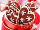 Рецепта Коледни сладки с какао и захарна глазура